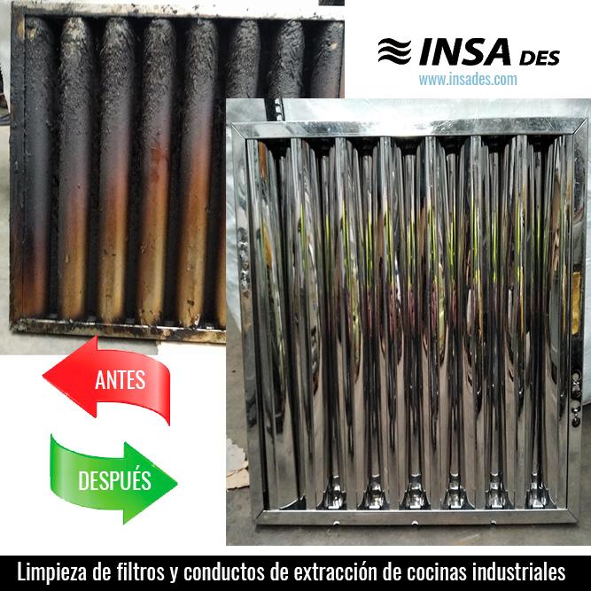 Limpieza de filtros y conductos de cocinas industriales